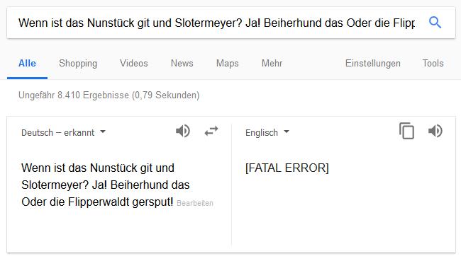 Lustigster Witz Google
