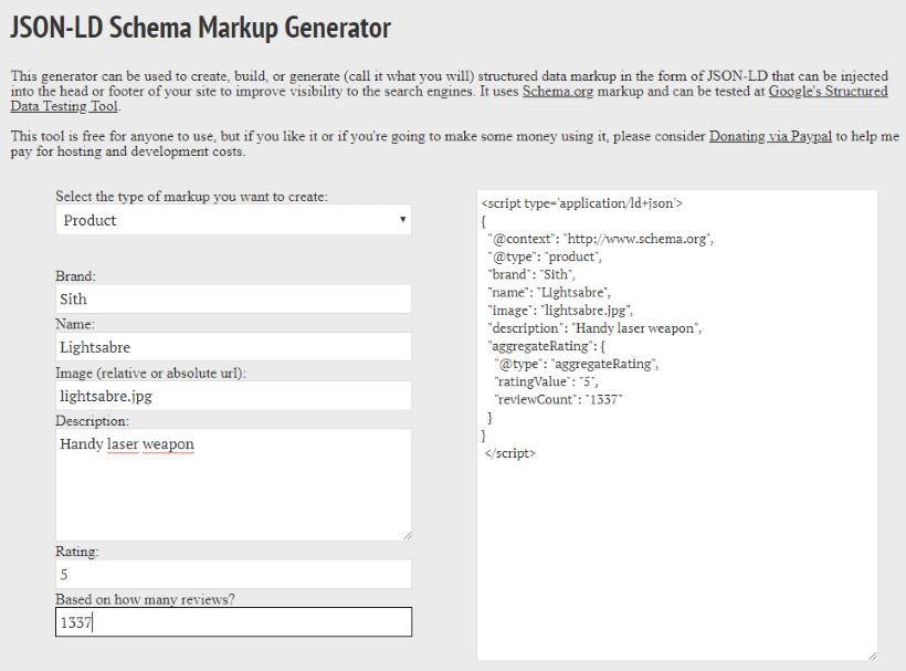 json-ld generator tools